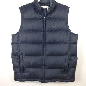 Eddie Bauer Goose Down Puffer Vest Black Sz XLT